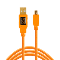 TetherPro USB 2.0 auf Micro B 5pin 4,6m Orange